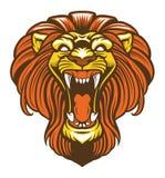 Angry lion roaring mascot Royalty Free Stock Photos