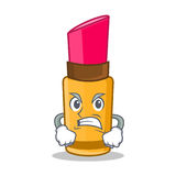 Angry lipstick character cartoon style Stock Photography