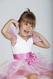 Angry little ballerina Stock Photos