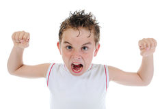 Angry little boy Stock Photos
