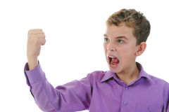 Angry little boy Royalty Free Stock Photography