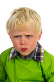 Angry little boy Royalty Free Stock Photo