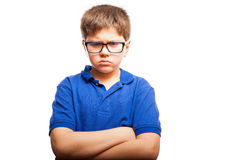 Angry little boy Stock Images