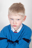 Angry little boy Royalty Free Stock Images