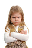 The angry little girl Stock Photos