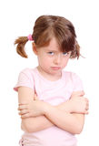 Angry little girl Stock Photography