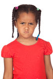 Angry little girl. Isolated on a over white background Stock Image