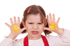 Angry little girl Stock Photo