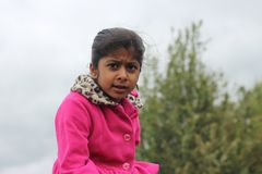Angry little girl Stock Photography