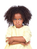 Angry little girl with beautiful hairstyle Royalty Free Stock Photos