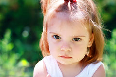 Angry little girl Royalty Free Stock Image