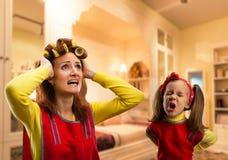 Angry little girl crying Stock Image