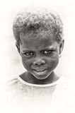 Angry little girl from Ghana Royalty Free Stock Photos