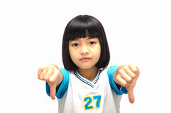 Angry little girl. Royalty Free Stock Images