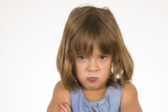 Angry little girl Royalty Free Stock Photo
