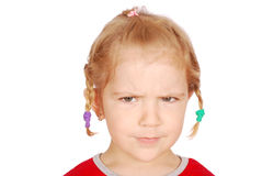 Angry little girl portrait Royalty Free Stock Images