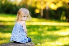 Angry little girl portrait Stock Image