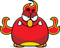 Angry Little Phoenix. A cartoon illustration of a phoenix bird looking angry Stock Image