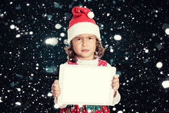 Angry little Santa Stock Photography