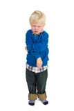 Angry little toddler Royalty Free Stock Photo