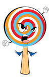 Angry lollipop cartoon Royalty Free Stock Image
