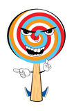 Angry lollipop cartoon Royalty Free Stock Images