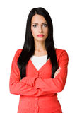 Angry  looking business woman. Royalty Free Stock Photography