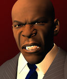 Angry Looking Businessman. In Suit Stock Photo