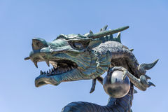 Angry looking dragon statue Stock Image