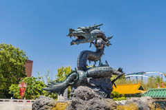 Angry looking dragon statue Stock Photography