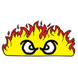 Angry looking fire. Cartoon illustration Royalty Free Stock Photos