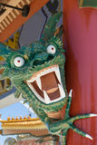Angry looking  green  Lego dragon at Port Aventura amusement park,Spain Royalty Free Stock Photos