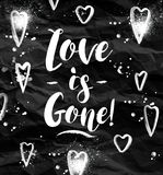 Angry Love is gone greeting card Royalty Free Stock Images