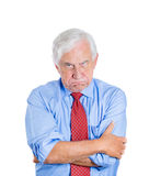 Angry, mad, annoyed senior businessman Royalty Free Stock Photos