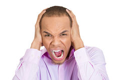 Angry mad man screaming Stock Images