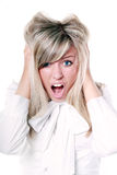 Angry mad woman Royalty Free Stock Photos