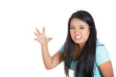 An angry mad woman Stock Images