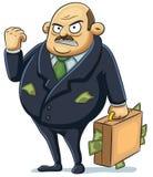 Angry Mafia. Cartoon illustration of angry mafia Stock Photos