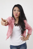 Angry malay woman Royalty Free Stock Photos