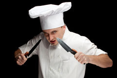Angry male cook Royalty Free Stock Photos
