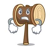 Angry mallet mascot cartoon style royalty free illustration