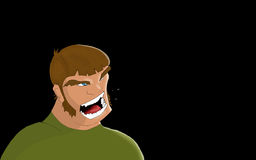 Angry man 01. Somebody's looking for serious trouble stock illustration