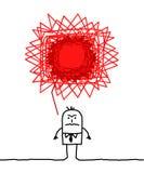 Angry man. Vector hand drawn cartoon character Royalty Free Stock Photos