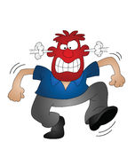 Angry man. Cartoon angry man isolated on white background Stock Image