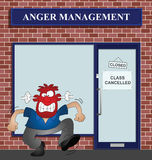 Angry man. At the anger management help centre Stock Photography