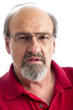 Angry man. Adult male with a stern look on his face Royalty Free Stock Photography