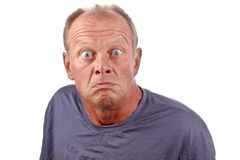 Angry man. Man with angry facial expression Stock Photography