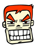 Angry man. There is a angry man on the white background,vector illustration Stock Photo
