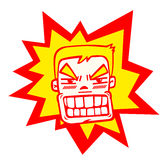 Angry man. There is a angry man on the white background,vector illustration Stock Images