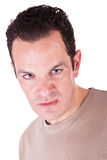 Angry man. An angry man isolated on white background Stock Photography